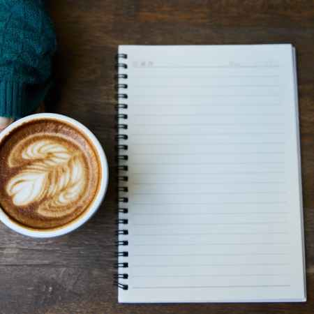 my first novel began with a coffee and an empty page